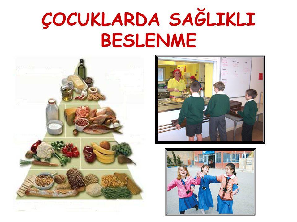 3 AMAÇ: Okul Çağı Dönemde Obezitenin Önlenmesi İçin Yeterli ve Dengeli Beslenmenin Önemini Vurgulamak.