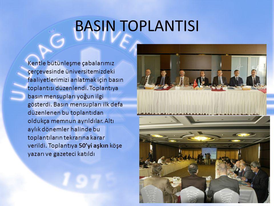 BASIN TOPLANTISI 19 Kentle bütünleşme çabalarımız çerçevesinde üniversitemizdeki faaliyetlerimizi anlatmak için basın toplantısı düzenlendi. Toplantıy