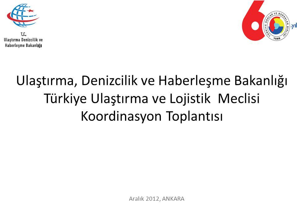 Aralık 2012, ANKARA Ulaştırma, Denizcilik ve Haberleşme Bakanlığı Türkiye Ulaştırma ve Lojistik Meclisi Koordinasyon Toplantısı