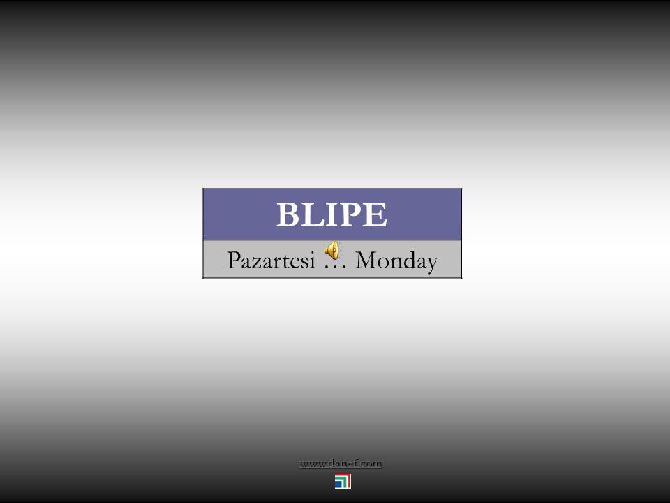 www.danef.com BLIPE Pazartesi … Monday
