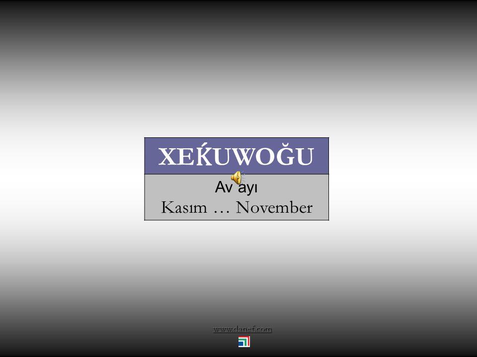 www.danef.com ŞEPWOĞU kırağı düşme ayı Ekim … October