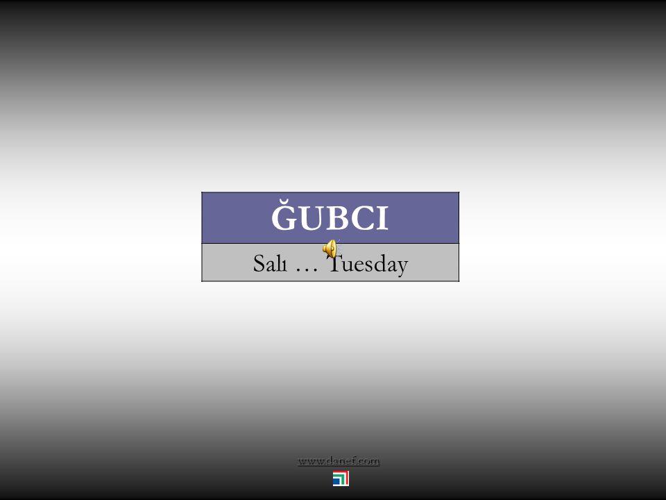 www.danef.com ĞUBCI Salı … Tuesday