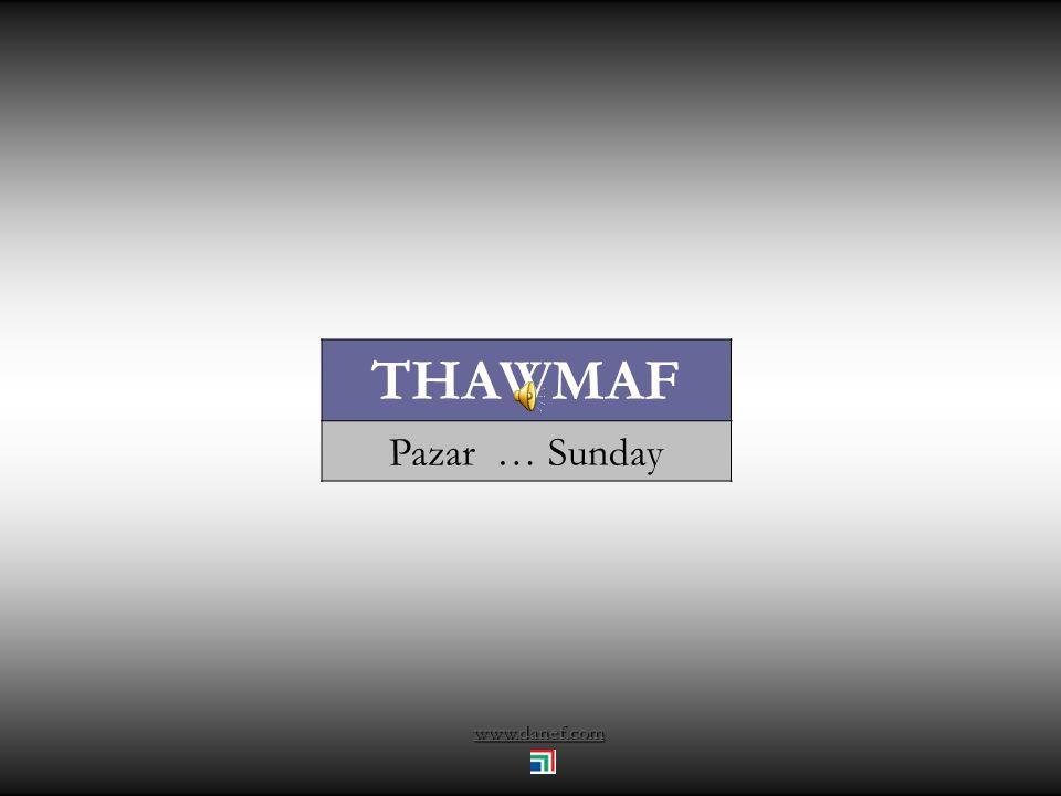 www.danef.com THAWMAF Pazar … Sunday