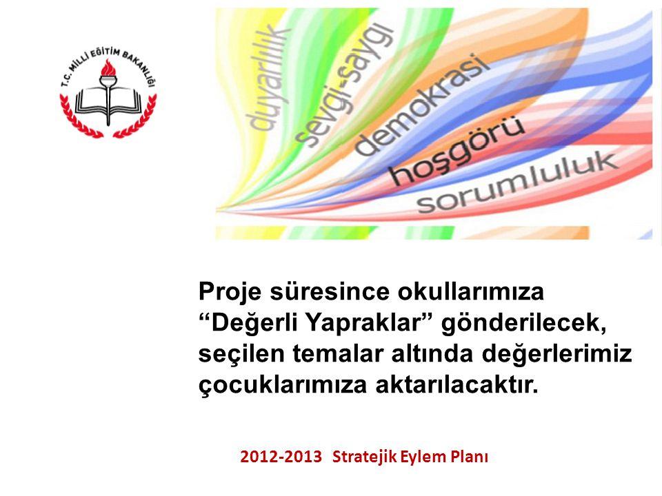 """T.C. KASTAMONU VALİLİĞİ İL MİLLİ EĞİTİM MÜDÜRLÜĞÜ 2012-2013 Stratejik Eylem Planı Proje süresince okullarımıza """"Değerli Yapraklar"""" gönderilecek, seçil"""