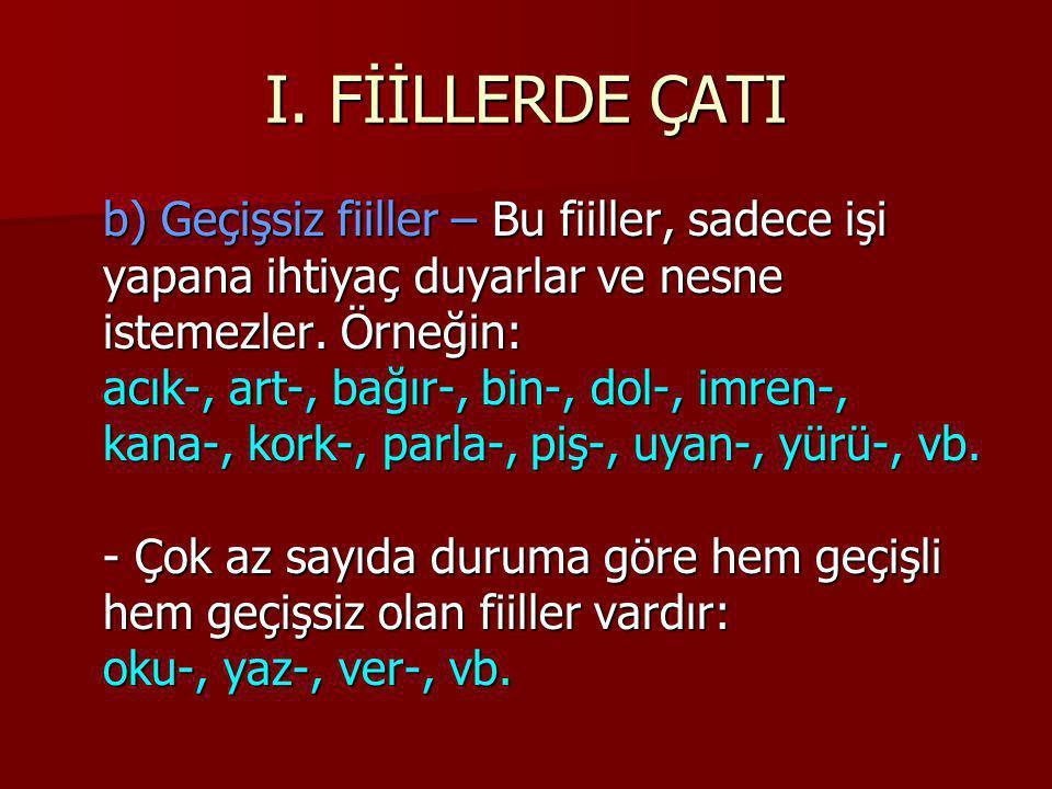 I.FİİLLERDE ÇATI 2.