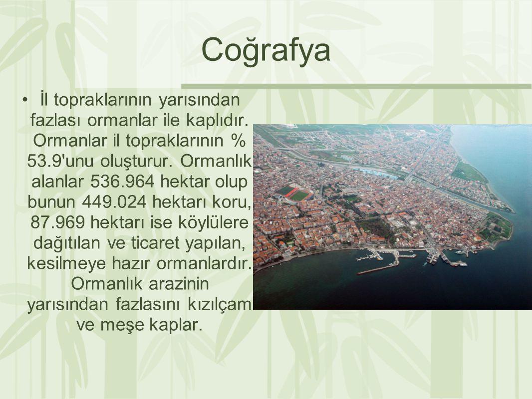 Coğrafya İl topraklarının yarısından fazlası ormanlar ile kaplıdır.