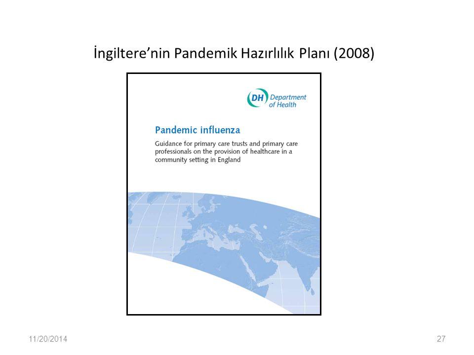 İngiltere'nin Pandemik Hazırlılık Planı (2008) 11/20/201427