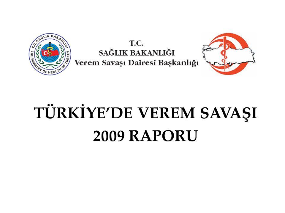 Yöntem Türkiye'de Verem Savaşı 2009 Raporu'nda Nüfus olarak 2007 yılında yapılan adrese dayalı nüfus sayımı rakamları alınmıştır.