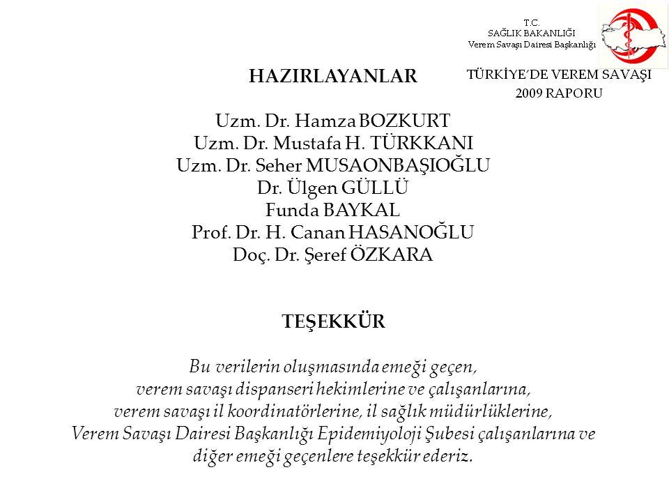 HAZIRLAYANLAR Uzm. Dr. Hamza BOZKURT Uzm. Dr. Mustafa H. TÜRKKANI Uzm. Dr. Seher MUSAONBAŞIOĞLU Dr. Ülgen GÜLLÜ Funda BAYKAL Prof. Dr. H. Canan HASANO
