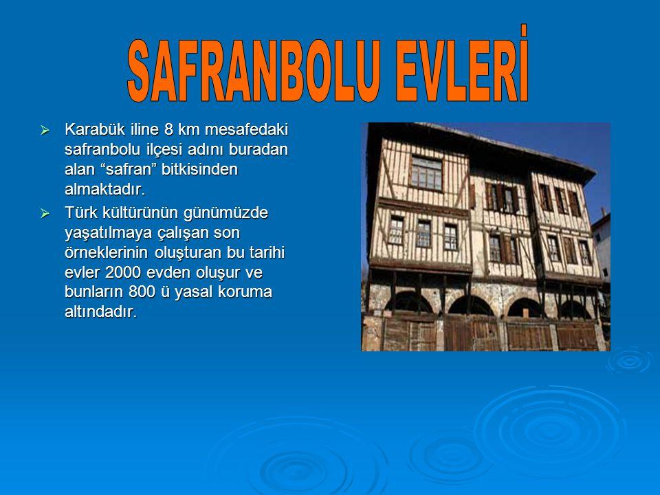 """ Karabük iline 8 km mesafedaki safranbolu ilçesi adını buradan alan """"safran"""" bitkisinden almaktadır.  Türk kültürünün günümüzde yaşatılmaya çalışan"""