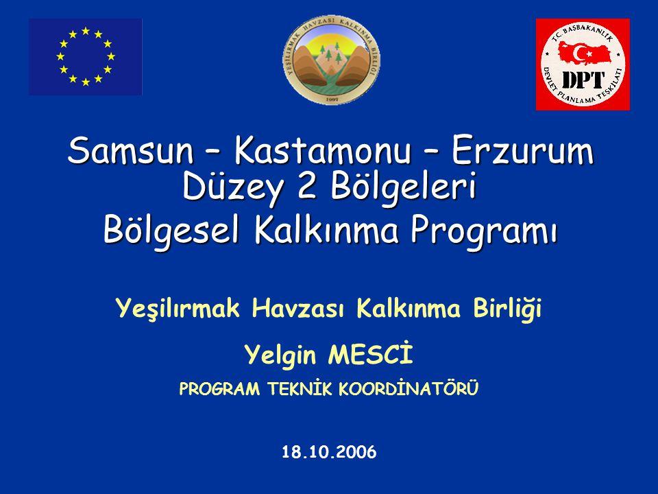Samsun – Kastamonu – Erzurum Düzey 2 Bölgeleri Bölgesel Kalkınma Programı Yeşilırmak Havzası Kalkınma Birliği Yelgin MESCİ PROGRAM TEKNİK KOORDİNATÖRÜ