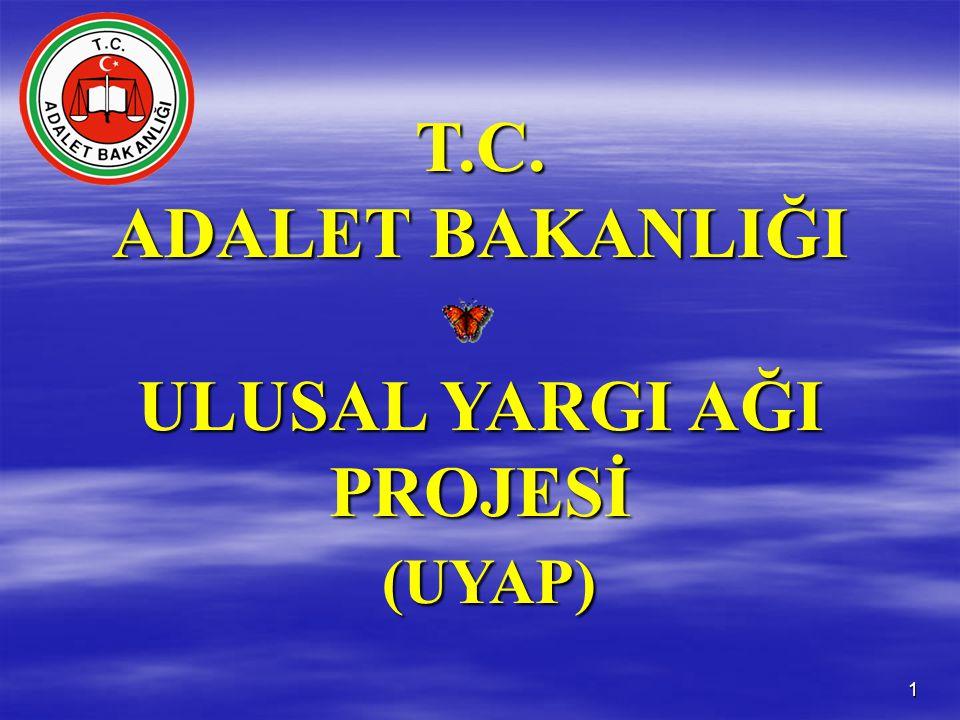 1 T.C. ADALET BAKANLIĞI ULUSAL YARGI AĞI PROJESİ (UYAP) (UYAP)