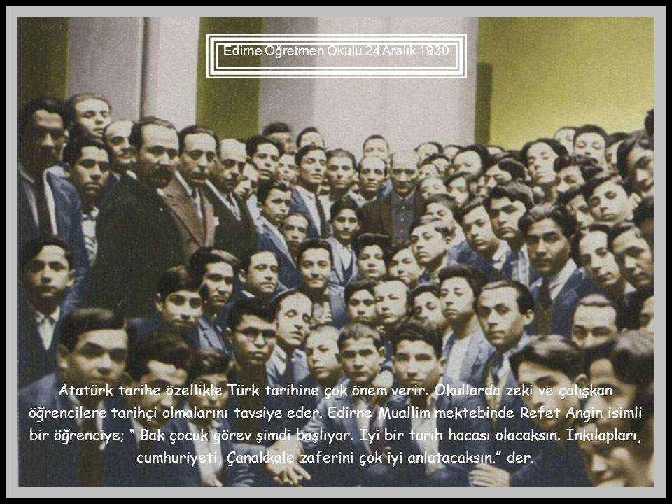 Atatürk Kayseri'de 20.10.1928 Atatürk'ün eğitim tarihimizde ayrı bir yer tutmasının başlıca nedenlerinden birisi de eğitimimize ilişkin gözlem ve teşh