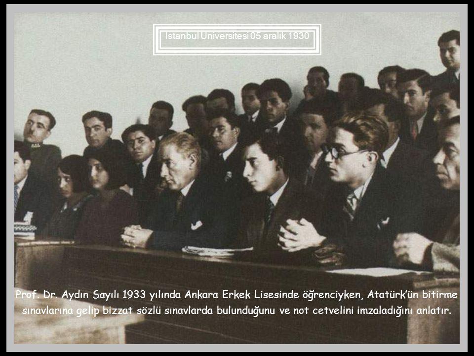 Atatürk tarihe özellikle Türk tarihine çok önem verir. Okullarda zeki ve çalışkan öğrencilere tarihçi olmalarını tavsiye eder. Edirne Muallim mektebin