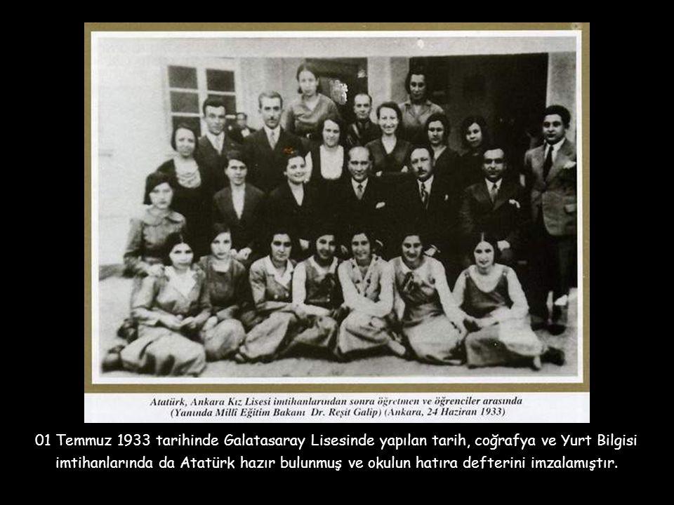 Prof. Dr. Aydın Sayılı 1933 yılında Ankara Erkek Lisesinde öğrenciyken, Atatürk'ün bitirme sınavlarına gelip bizzat sözlü sınavlarda bulunduğunu ve no