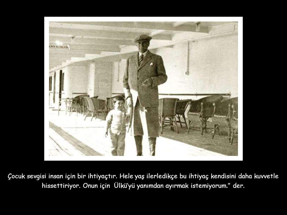 """Küçük Ülkü bir sofrada çocuk bayramında gördüklerini anlatmaya çalışırken Atatürk sofradakilere şunu söyler; """" Eşini mutlu edecek herkes evlenmelidir."""