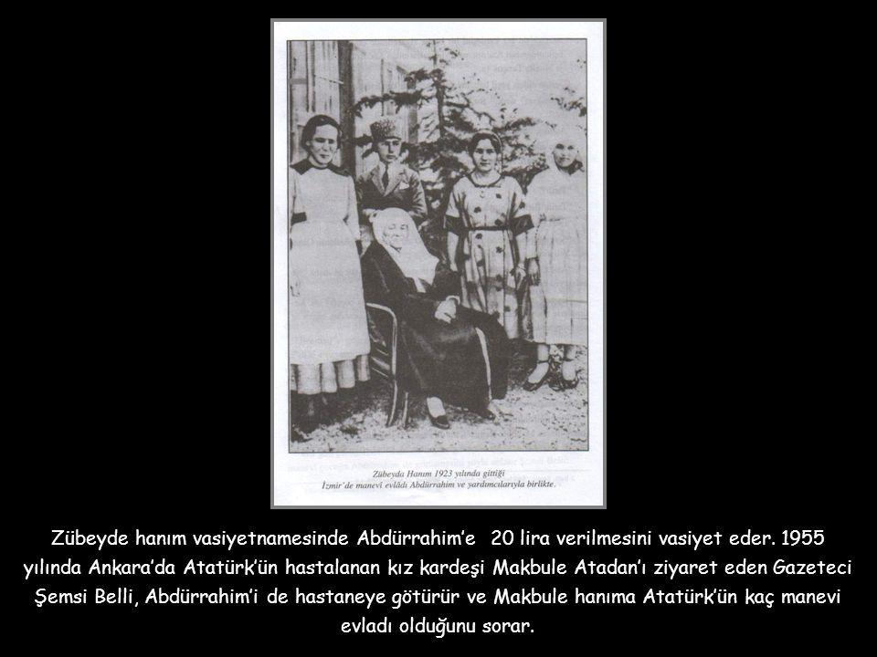 """Büyük zaferden sonra da Abdürrahim'i Ankara'ya getirerek """" Sanayi Mektebi"""" ne yollar ve 1929 yılında Berlin Üniversitesi'ne gönderir. Abdürrahim'e soy"""