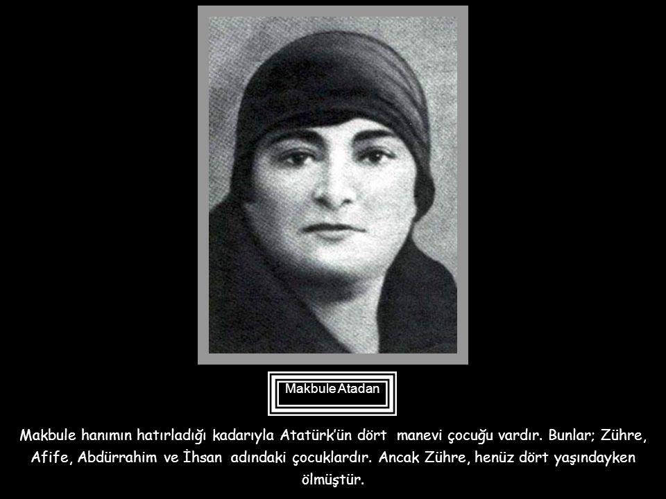 Zübeyde hanım vasiyetnamesinde Abdürrahim'e 20 lira verilmesini vasiyet eder. 1955 yılında Ankara'da Atatürk'ün hastalanan kız kardeşi Makbule Atadan'
