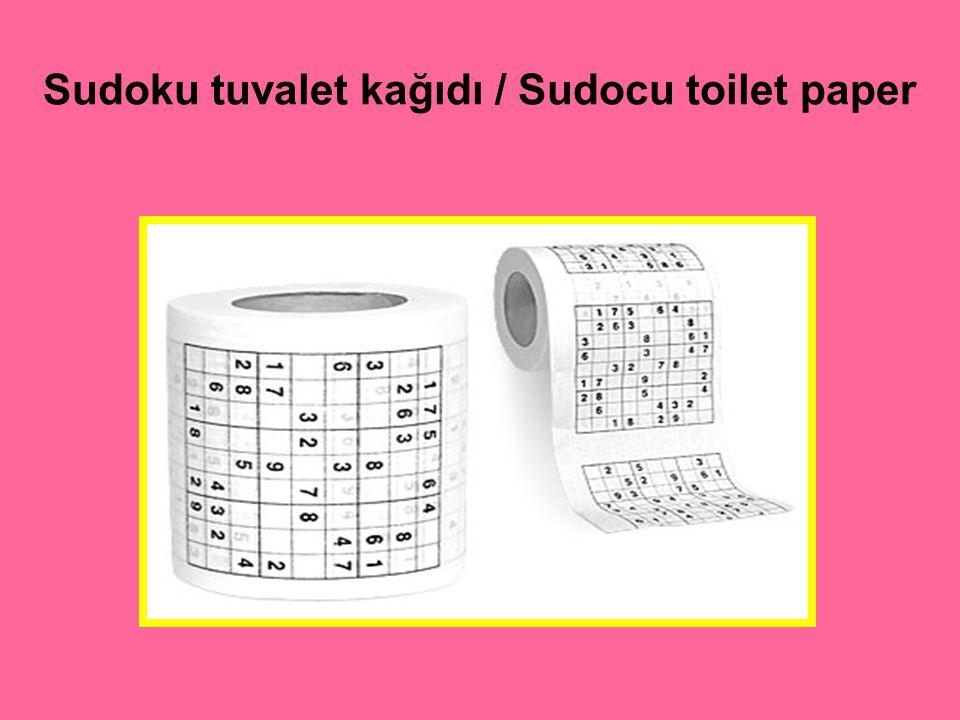 Sudoku tuvalet kağıdı / Sudocu toilet paper