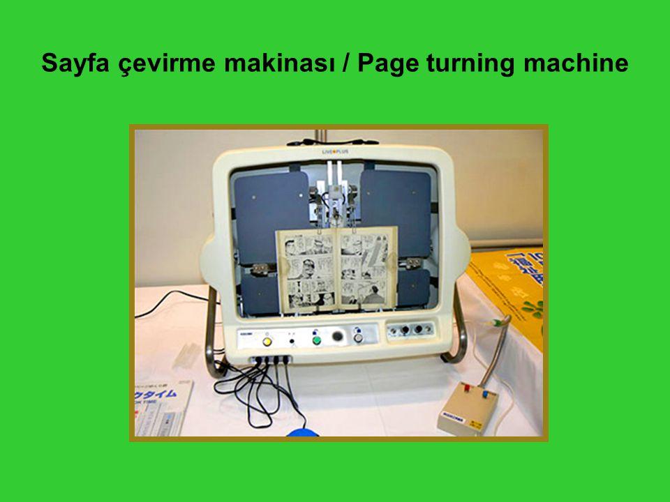 Sayfa çevirme makinası / Page turning machine