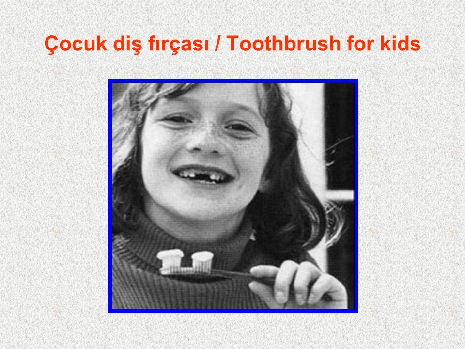 Çocuk diş fırçası / Toothbrush for kids