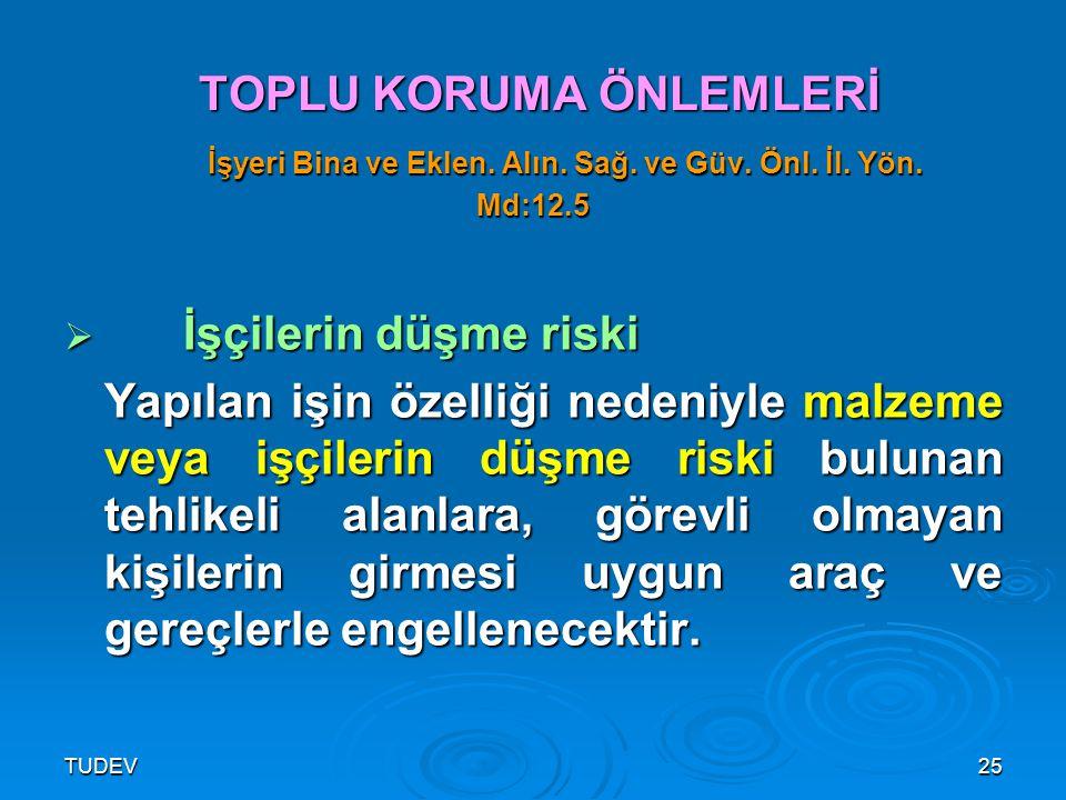 TUDEV26 TOPLU KORUMA ÖNLEMLERİ İşyeri Bina ve Eklen.