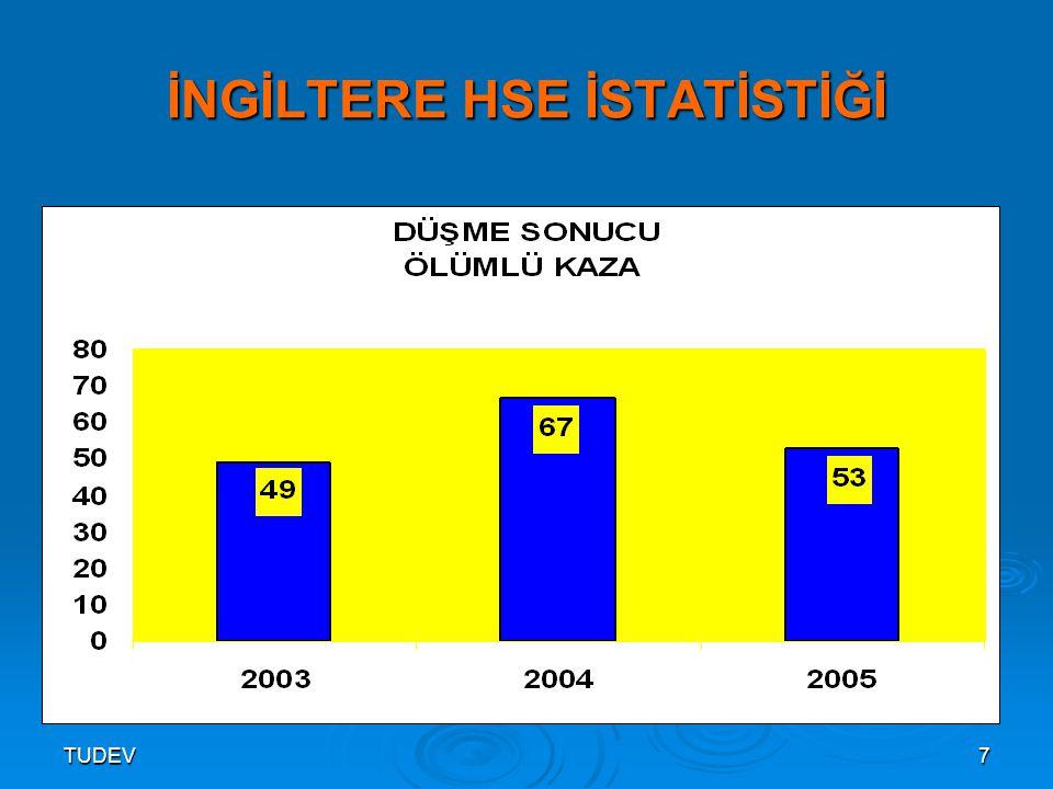 TUDEV8 İNGİLTERE HSE İSTATİSTİĞİ (2003)