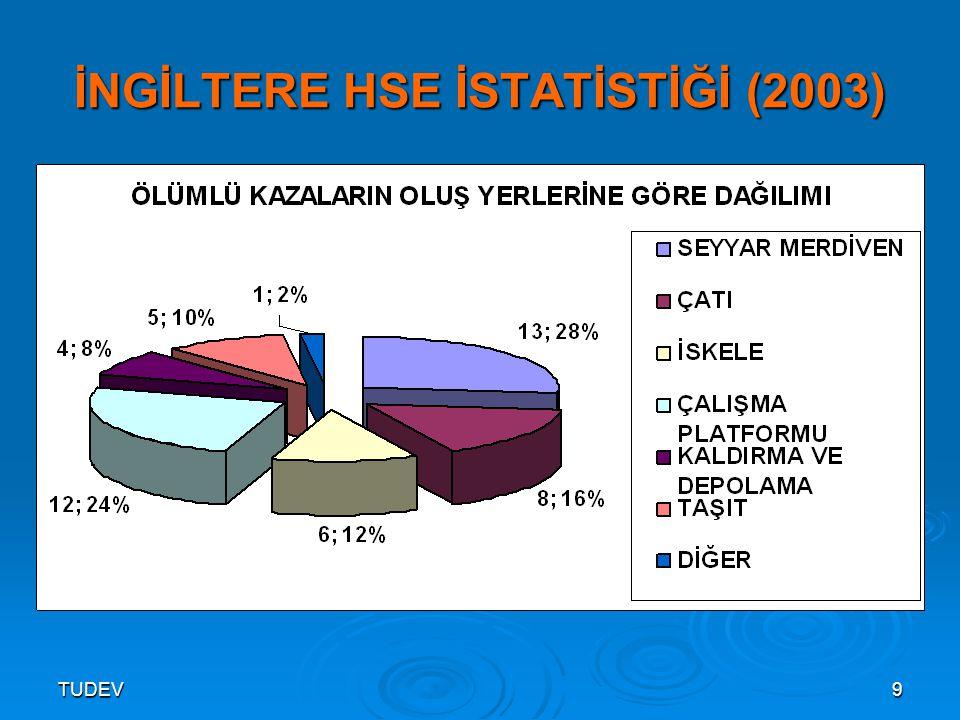 TUDEV10 İNGİLTERE HSE İSTATİSTİĞİ (2003)