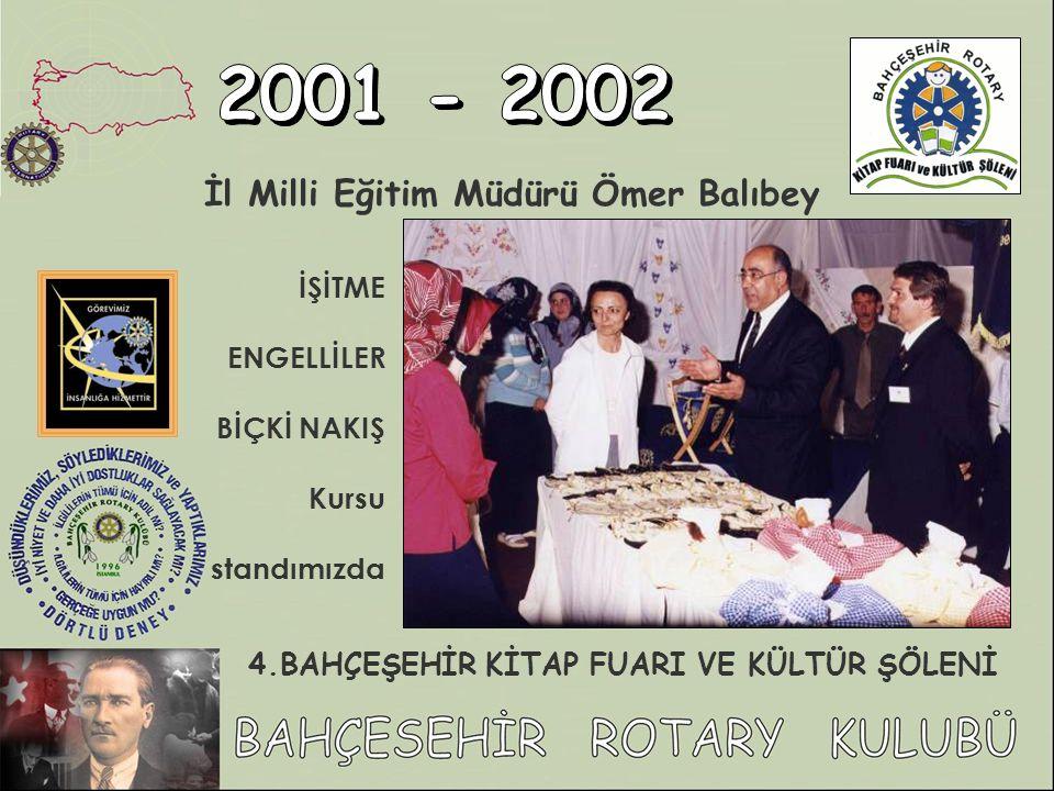 İl Milli Eğitim Müdürü Ömer Balıbey İŞİTME ENGELLİLER BİÇKİ NAKIŞ Kursu standımızda