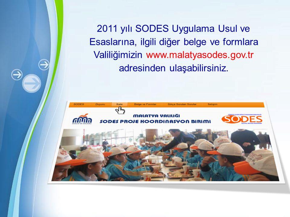 Powerpoint Templates Page 36 2011 yılı SODES Uygulama Usul ve Esaslarına, ilgili diğer belge ve formlara Valiliğimizin www.malatyasodes.gov.tr adresinden ulaşabilirsiniz.
