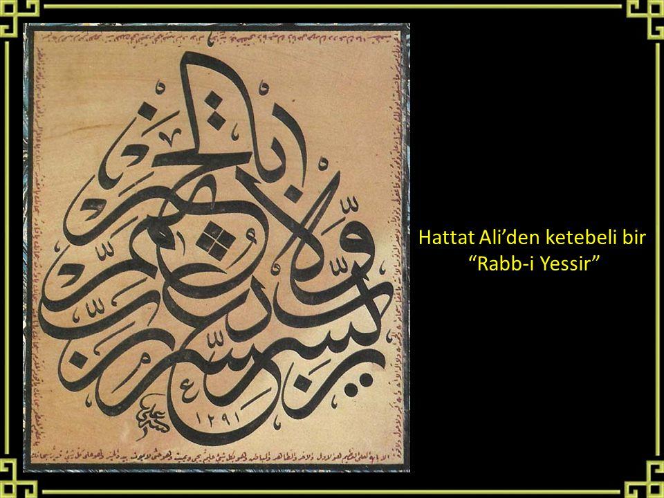 "Hattat Ali'den ketebeli bir ""Rabb-i Yessir"""