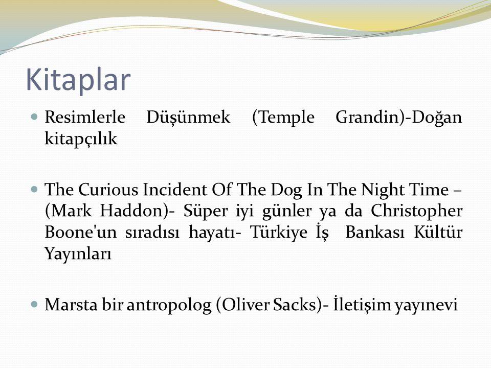 Kitaplar Resimlerle Düşünmek (Temple Grandin)-Doğan kitapçılık The Curious Incident Of The Dog In The Night Time – (Mark Haddon)- Süper iyi günler ya