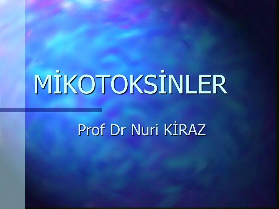 MİKOTOKSİNLER Prof Dr Nuri KİRAZ