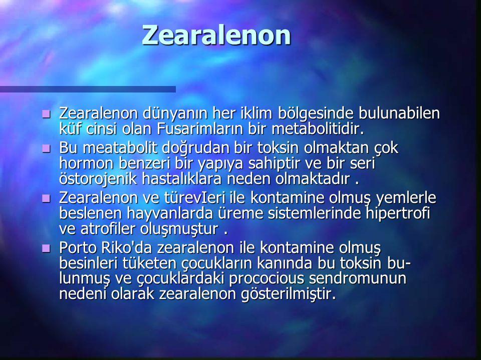 Zearalenon Zearalenon dünyanın her iklim bölgesinde bulunabilen küf cinsi olan Fusarimların bir metabolitidir. Zearalenon dünyanın her iklim bölgesind
