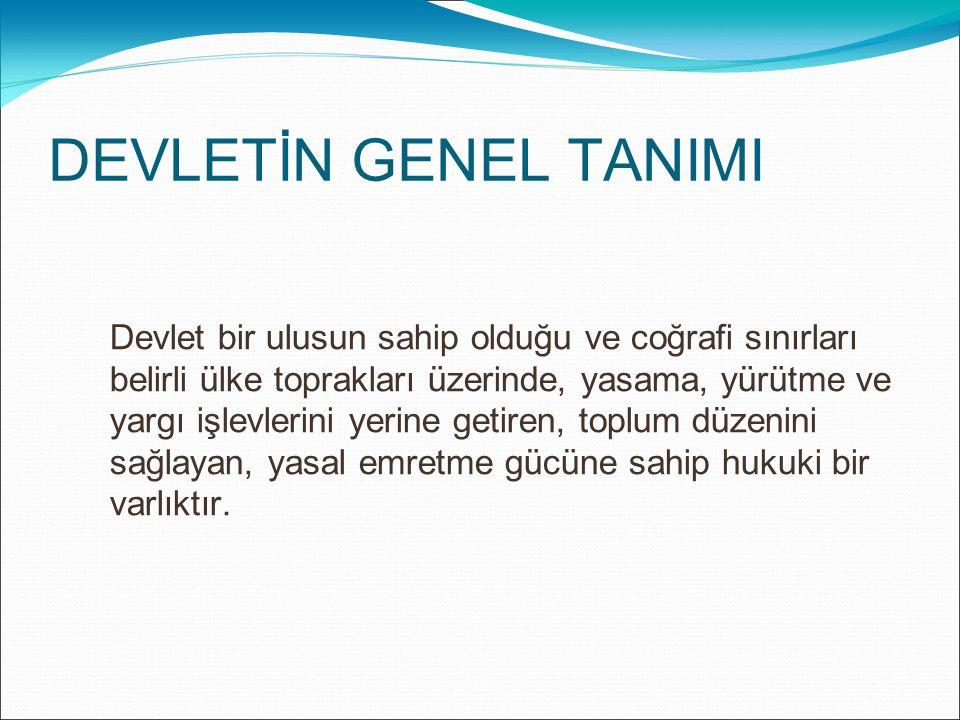 İDARE (YÖNETİM) Türkiye Cumhuriyeti Anayasası idareyi, yürütme bölümü içinde düzenlemiştir.
