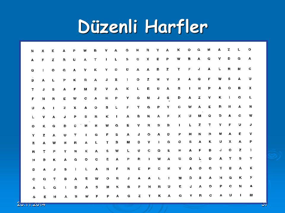 20.11.201437 Düzenli Harfler