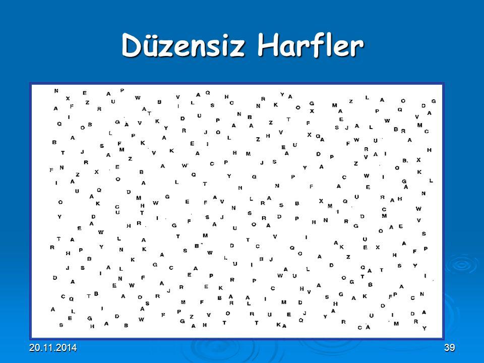 20.11.201439 Düzensiz Harfler
