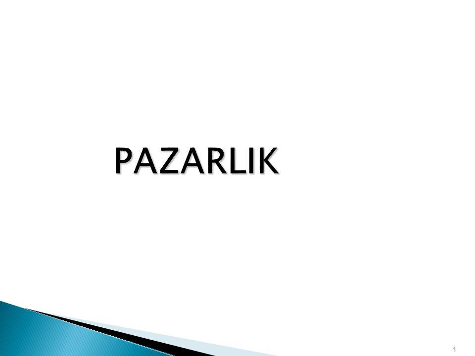 1 PAZARLIK