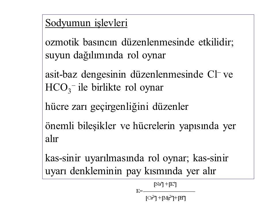 Sodyum alınımının atılımını aştığı durumlarda sodyum birikmesi söz konusudur.