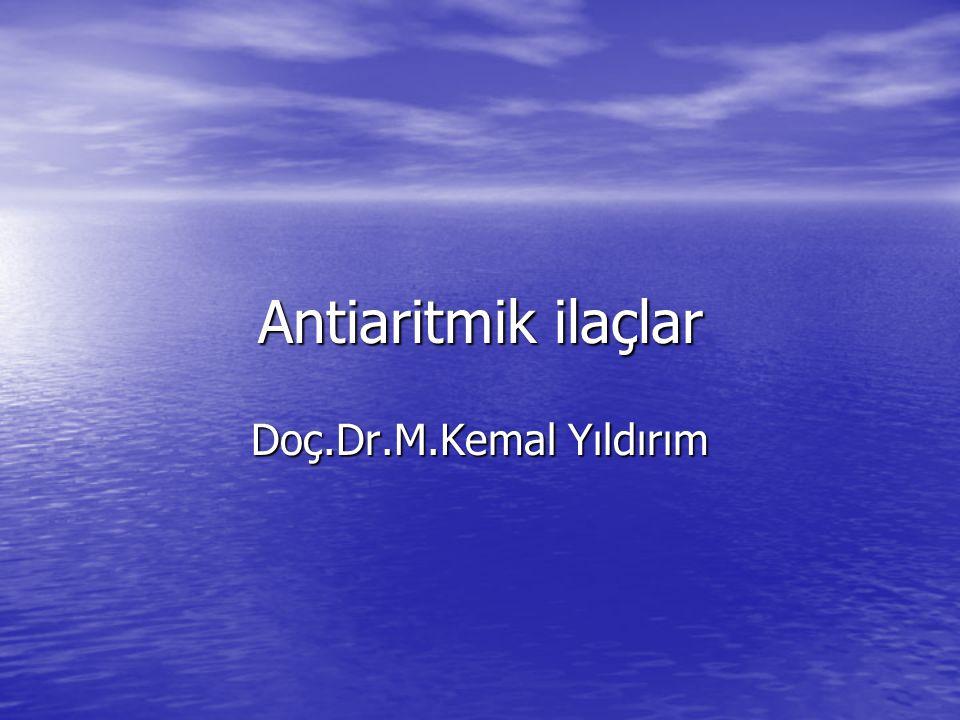 Lidokain: Başlangıçta lokal anestezik olarak çıkarılmış ve sonradan antiaritmik olarak da kullanılmaya başlanılmıştır.