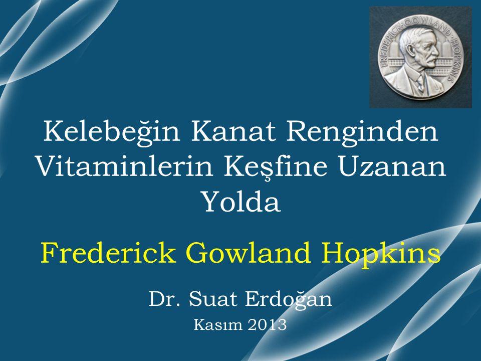 Dr. Suat Erdoğan Kasım 2013 Kelebeğin Kanat Renginden Vitaminlerin Keşfine Uzanan Yolda Frederick Gowland Hopkins
