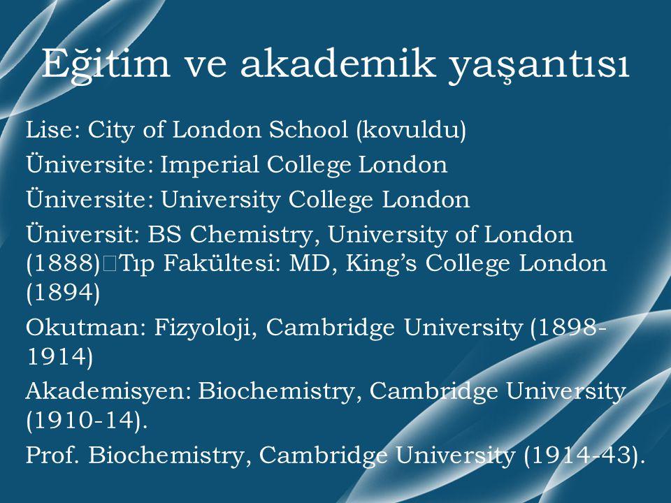 Eğitim ve akademik yaşantısı Lise: City of London School (kovuldu) Üniversite: Imperial College London Üniversite: University College London Üniversit