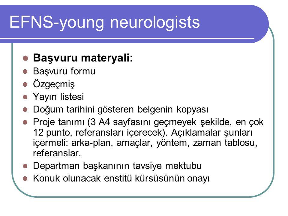 ECTRIMS-young neurologists ECTRIMS araştırma gözden geçirme komitesi üyelerince, kişiler fellowsip'e kabul edilir.