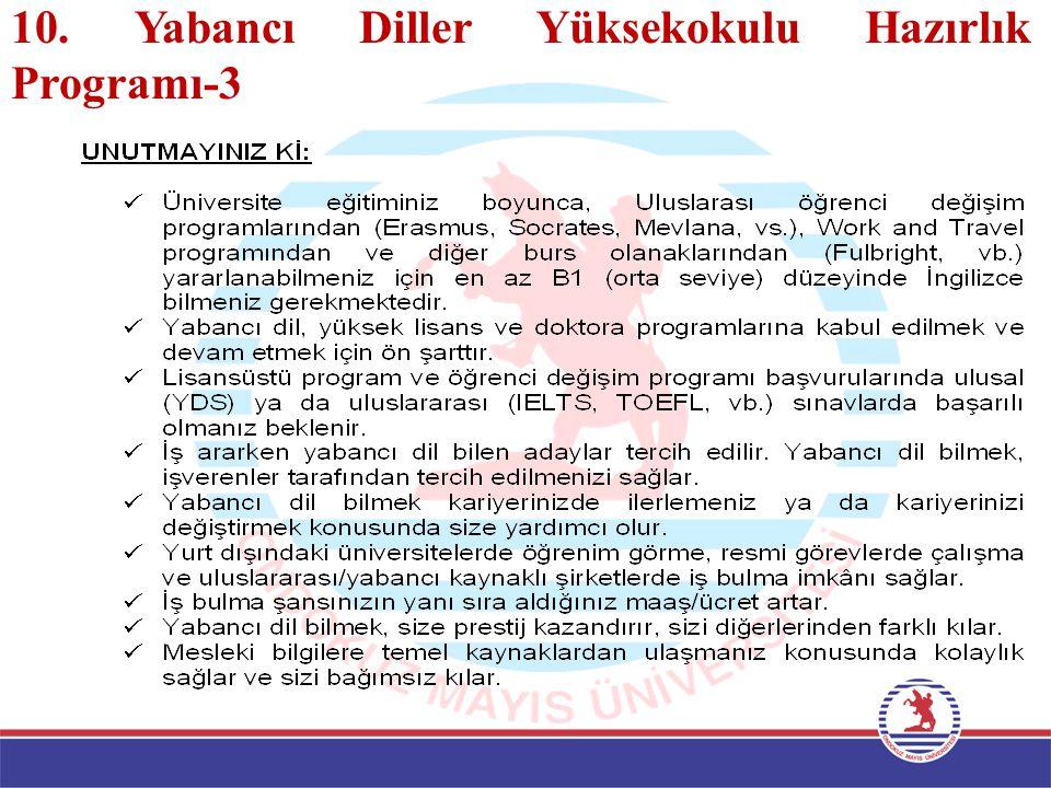 10. Yabancı Diller Yüksekokulu Hazırlık Programı-3