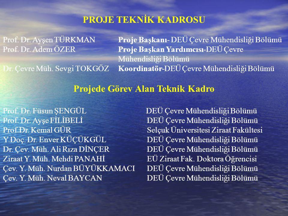 PROJE TEKNİK KADROSU Prof. Dr. Ayşen TÜRKMAN Proje Başkanı- DEÜ Çevre Mühendisliği Bölümü Prof. Dr. Adem ÖZERProje Başkan Yardımcısı-DEÜ Çevre Mühendi