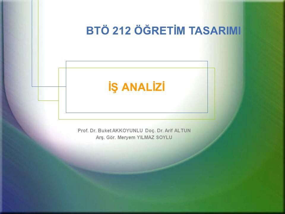 BTÖ 212 Öğretim Tasarımı / 2008 - 2009 Bahar12 Hiyerarşik İş Analizi Nasıl Yapılır.
