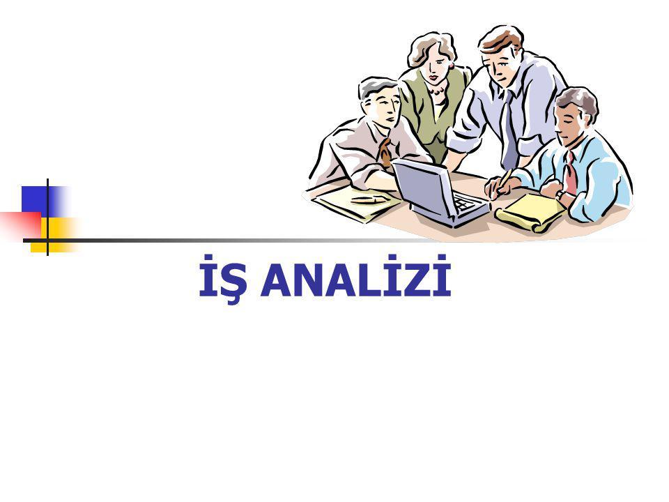 Ders amaçları Bu derste iş ile ilgili kavramlar ve terminolojisi, iş analizi kavramı, iş analizi sırasında yapılan faaliyetler, iş tanımlarının hazırlanması, iş gereklerinin hazırlanması, iş analizi bilgilerinin insan kaynakları yönetimi işlevlerinde kullanımı konuları tartışılacaktır.