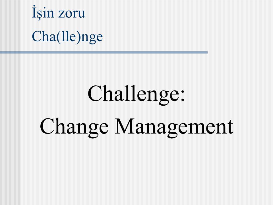 İşin zoru Cha(lle)nge Challenge: Change Management