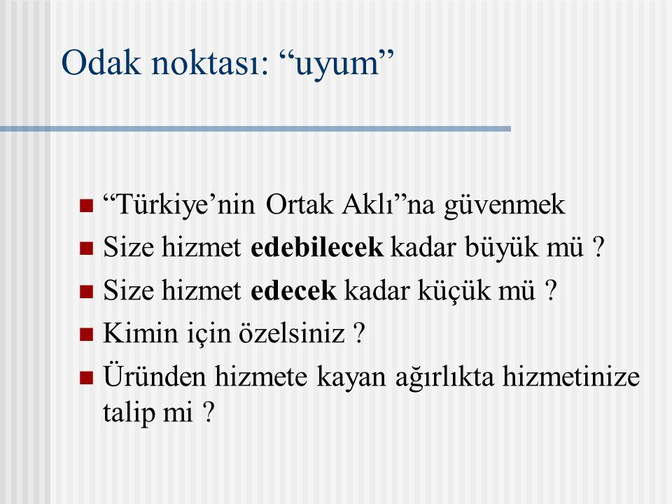 Odak noktası: uyum Türkiye'nin Ortak Aklı na güvenmek Size hizmet edebilecek kadar büyük mü .