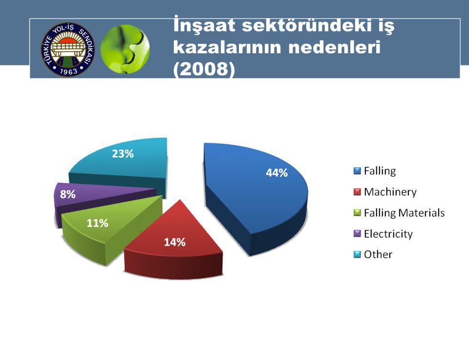 İnşaat sektöründeki iş kazalarının nedenleri (2008)